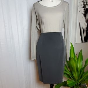CHAUS GRAY SKIRT